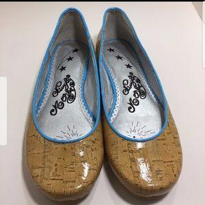 Naughty monkey cork flat shoes